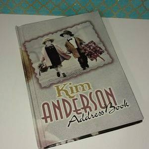 Other - Kim Anderson collectible address book home decor